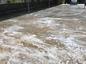 cleaning detergents before Pressure Washing