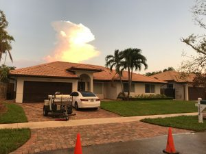 Completed house wash and pressure cleaning Hammocks florida