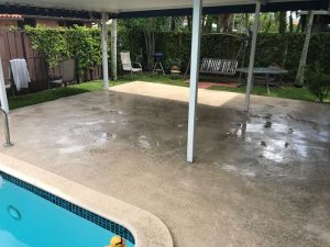 Pool deck completed