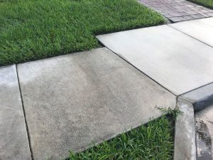 another before and after Surface Pressure Cleaning