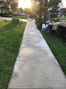Completed side walk pressure washing Hammocks florida