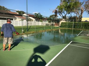 Tennis Court Pressure Washing
