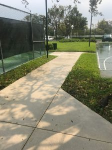 Pressure Cleaning Concrete Surface